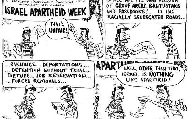 Israeli Apartheid Week Cartoon by Zapiro