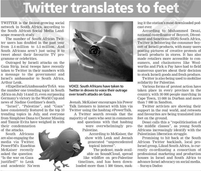 SA Twitter: From Retweets to feet on the ground