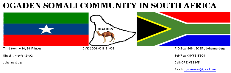 Ogaden Somali community In South Africa Press Release: Picketing at African Union summit