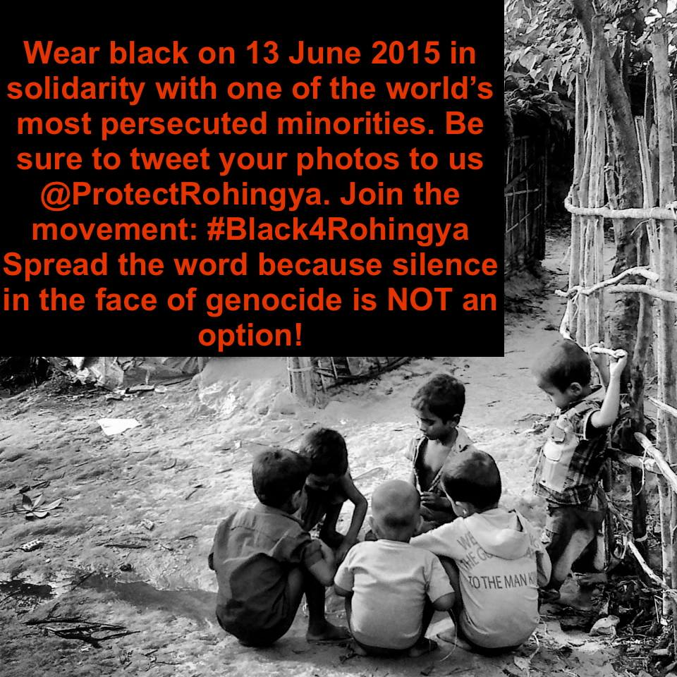 PRESS RELEASE: The 3rd Wear Black Day in Solidarity with the Rohingya #Black4Rohingya