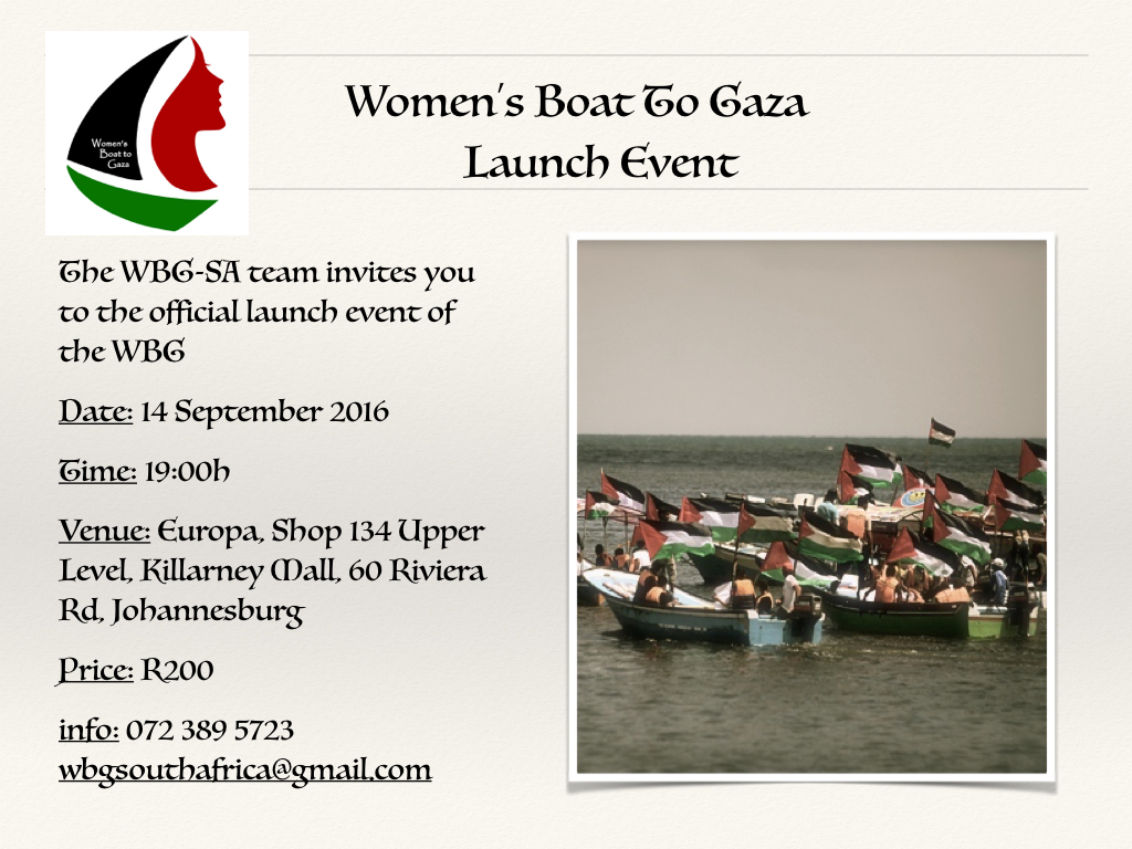 Women's Boat to Gaza (WBG) Launch Event