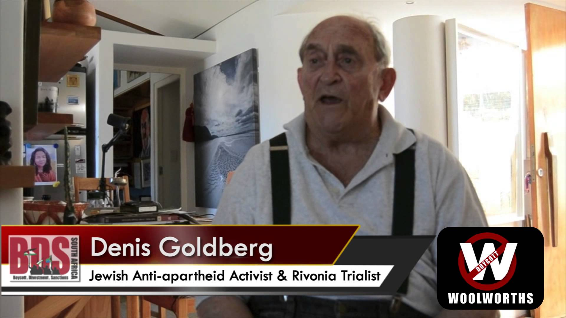 BDS Press Release: Nelson Mandela's co-accused, Denis Goldberg, slams Israeli propaganda holiday trips