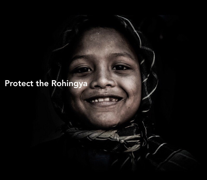 Protest: Ethnic Cleansing of Rohingya Muslims.