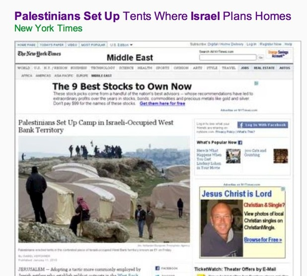 "Headline altered to remove words ""Israeli-occupied"""